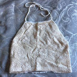 Tops - Brandy Melville Crochet Halter
